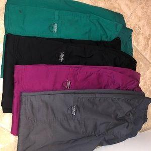 Cherokee workwear M scrub pants x4